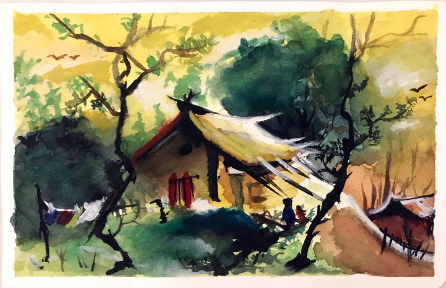 Learn chinese water painting at Bumblebee