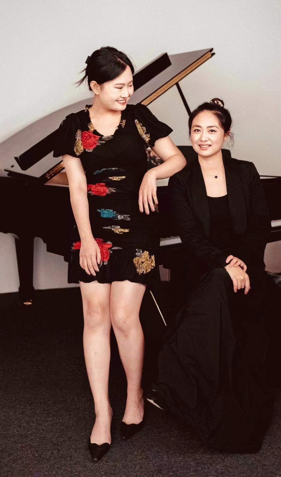 Bumblebee art centre's piano teacher and her student